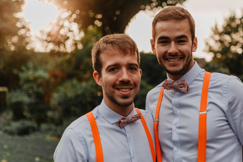 mariage boho nœud papillon team témoins