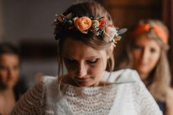 photographe mariage couronne fleur