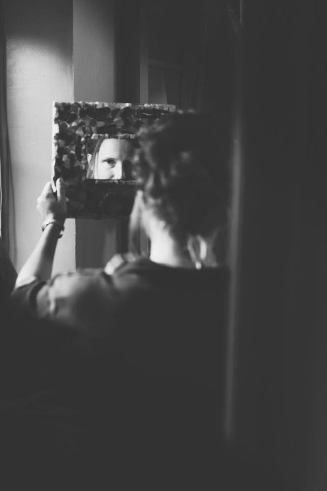 préparatifs mariage Côte d'Opale portrait mariée miroir
