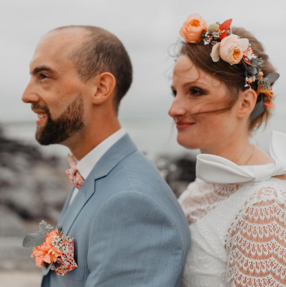 mariage boho bord de mer séance couple