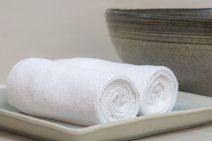 Rolled Hotel Handtücher