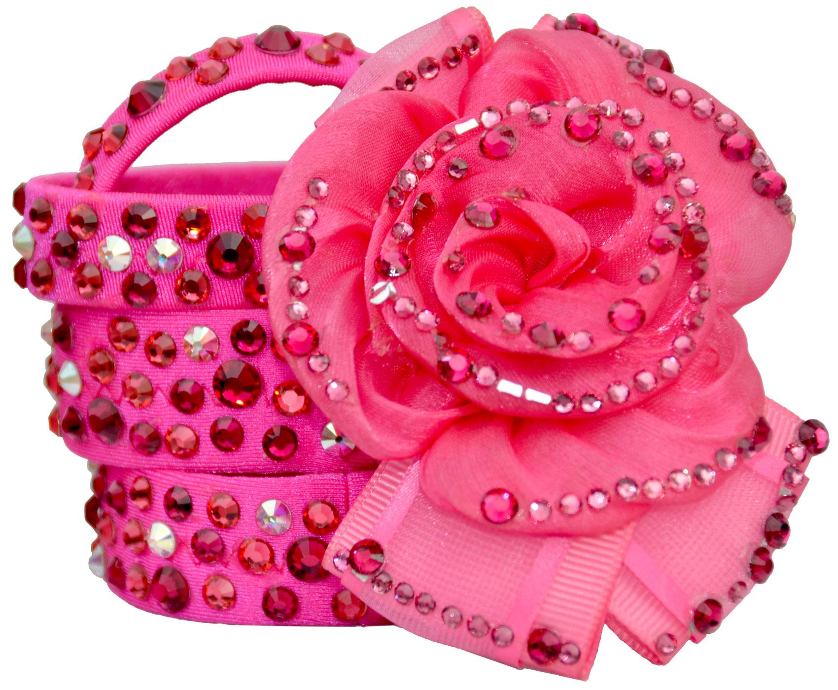 Hot Pink Bracelets & Rose