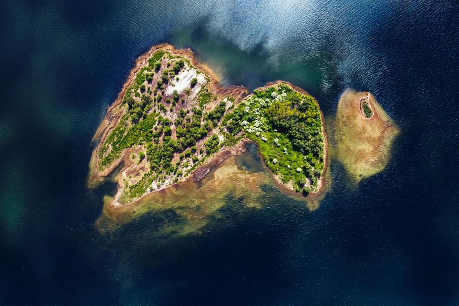 Insel im großen Goitzschesee
