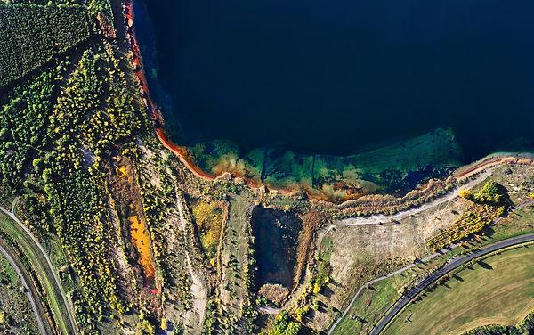 Uferlinie großer Goitzschesee