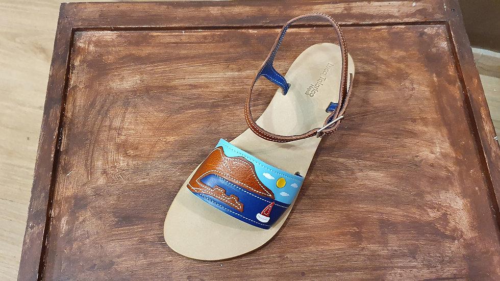 "Sandalo "" Cavigliera by day "" tacco cm 1"
