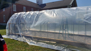 Our greenhouse is almost complete!