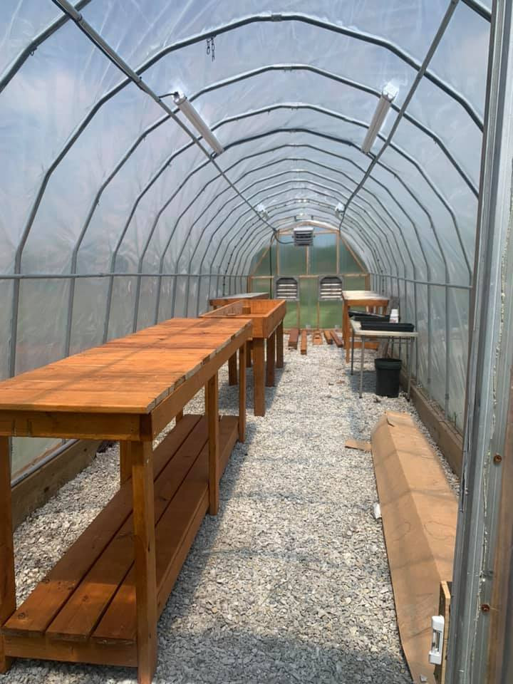 Our beautiful greenhouse, made possible by the Southeastern Board of Realtors.