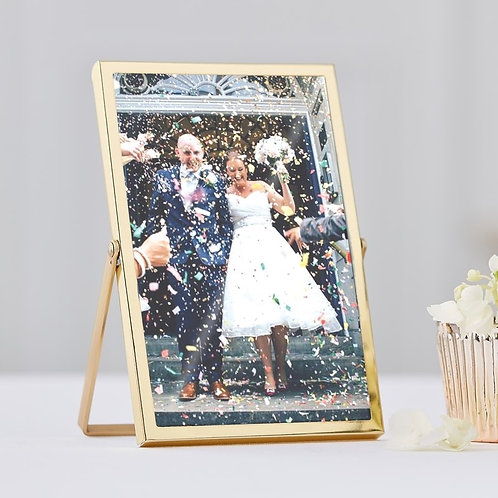 GOLD FREE STANDING PHOTO FRAMES