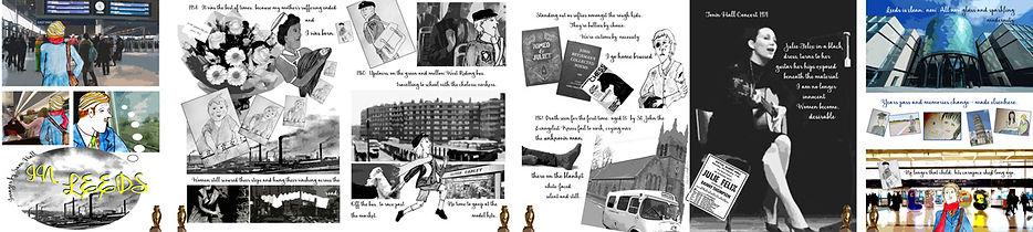 6 panels of a graphic interpretation of the poem.
