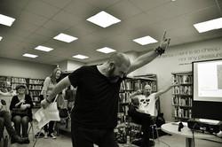 Nigel Adams performs his story