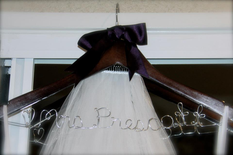 "Bride to Be Hanger ""Mrs Prescott"""
