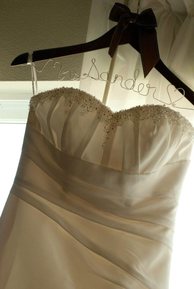 "Bride to Be Hanger ""Mrs Sander"""