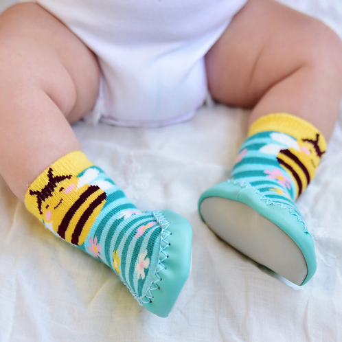 Cute Bumblebee Moccasin Slippers