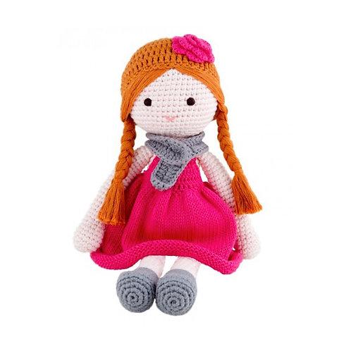 Crochet Doll 'Ava' - Handcrafted