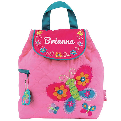 Quilted Cotton Designer Backpack - Butterfly