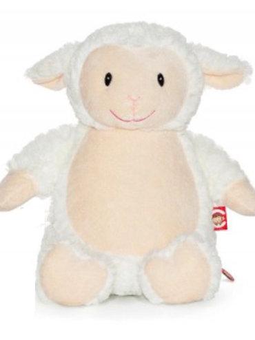 Fluffy Lamb Cubbie Teddy - PERSONALISED