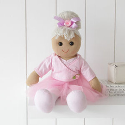 Pink Ballerina Rag Doll in Tutu – PERSONALISED