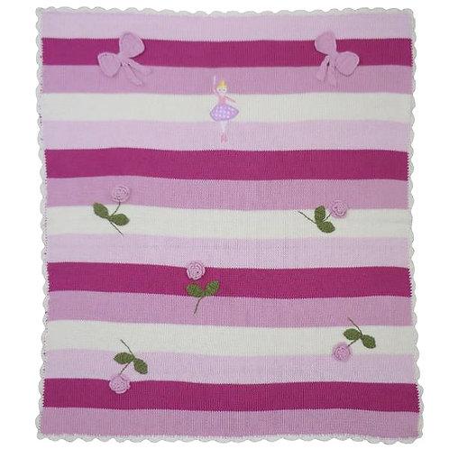 Ballerina themed Cotton Knitted Blanket