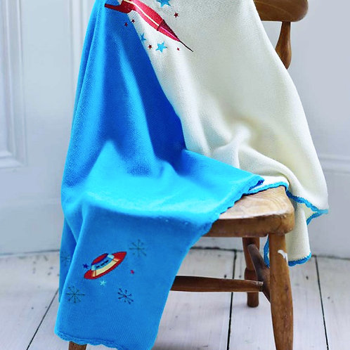 Space themed Cotton Blanket - Large Cot Size