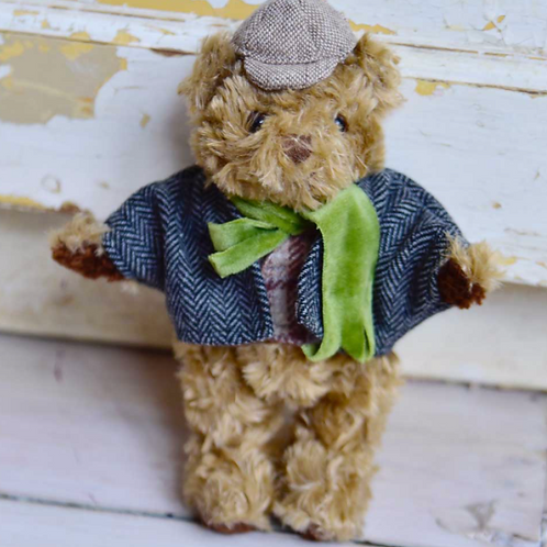 MINI Tweed Teddy Bear  - PERSONALISED