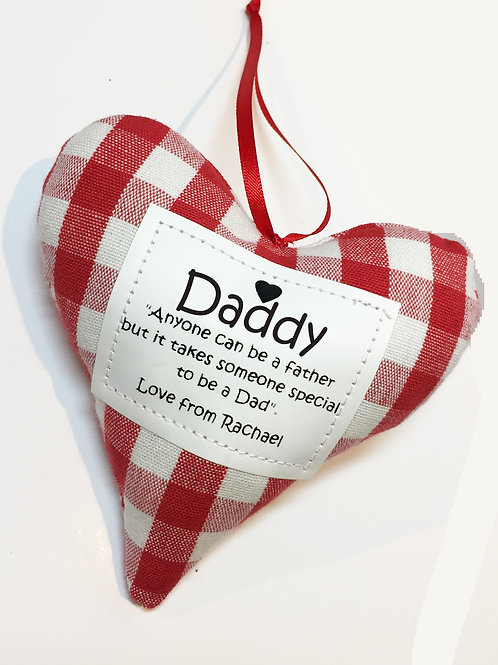 Handmade Heart Decoration - Dad