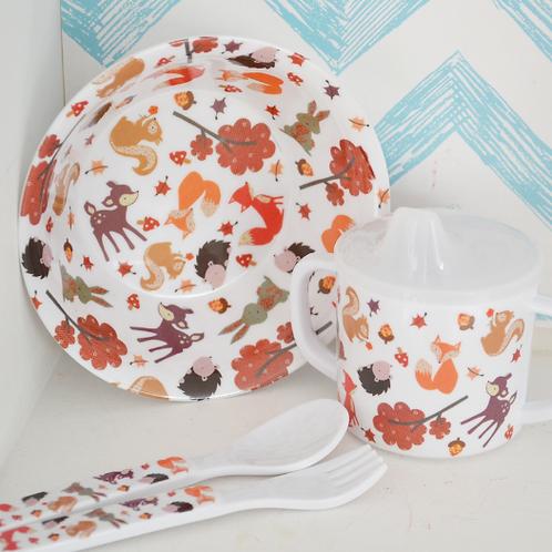 Babies Woodland Print Melamine Set