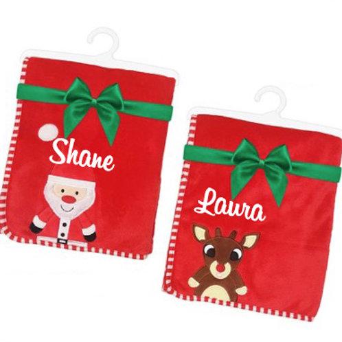 Christmas Blanket for Newborn Christmas Baby - Red Fleece