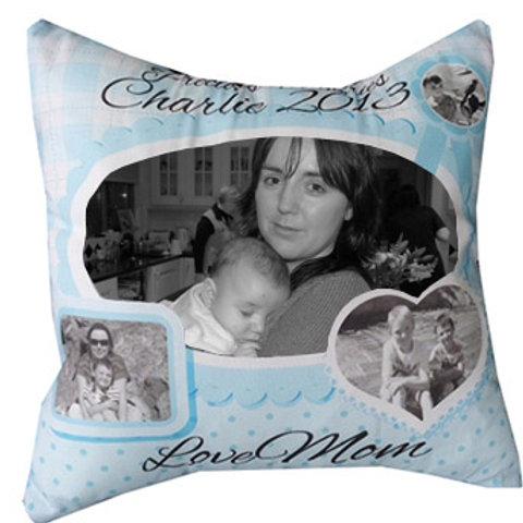 Blue Photo Memory Cushion