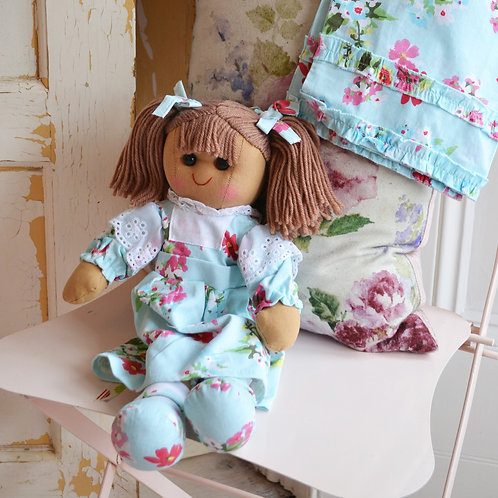 Blue floral themed Ragdoll - PERSONALISED