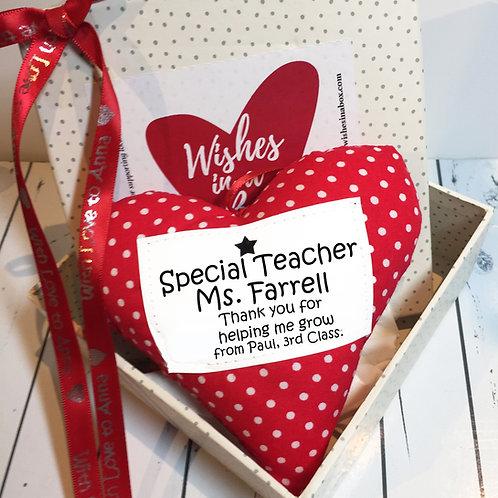 Handmade Heart Decoration - Teacher