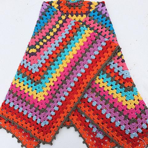 Granny Square Large Blanket - HANDMADE