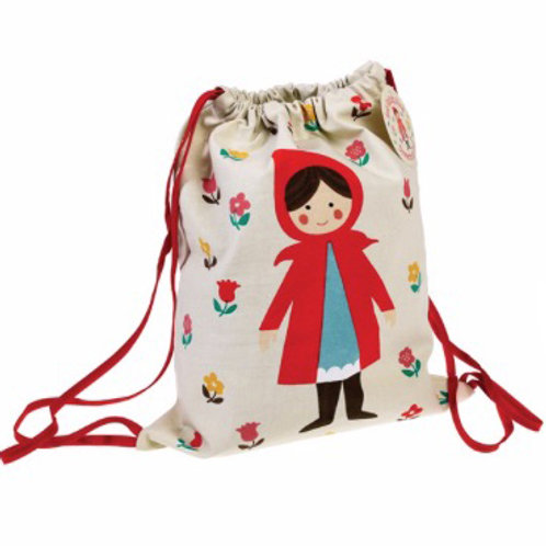 Red Riding Hood Drawstring Bag - Personalised