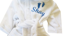 White Fluffy Baby Bathrobes 6-12months EUR22.00
