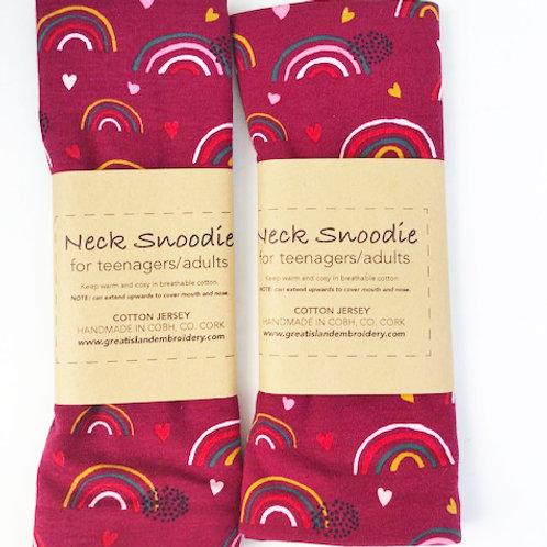 Wine Rainbow Snoodie/Neck Scarf - Cotton Jersey