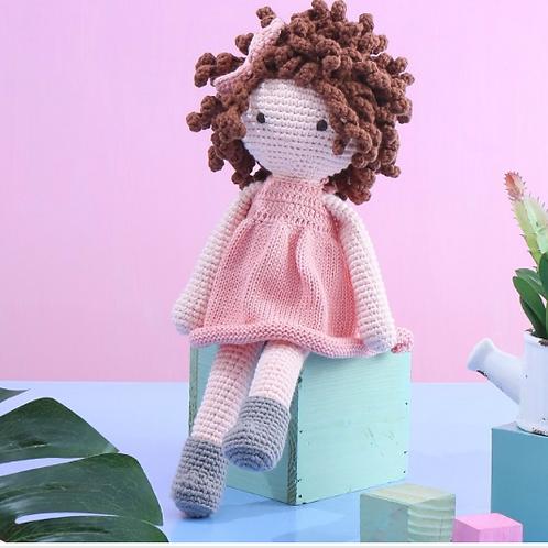 Crochet Doll 'Eliza' - Handcrafted