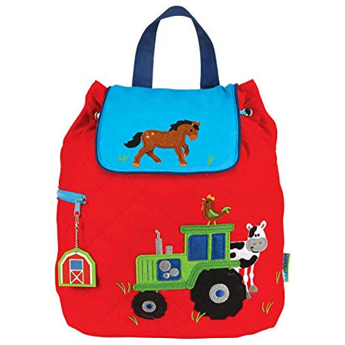Quilted Cotton Designer Backpack - Farm