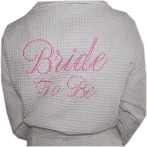 Wedding Bathrobe - (EMBROIDERY ONLY)