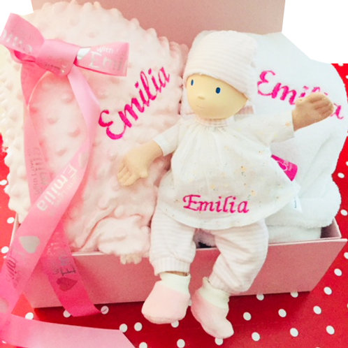 Newborn Baby Doll Personalised Hamper