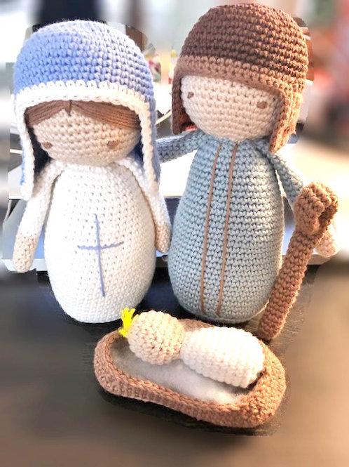 Handmade Crochet Crib Figures