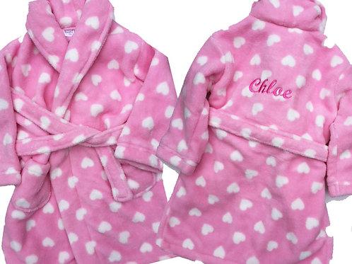 Pink Soft Luxury 'Heart' Bathrobe