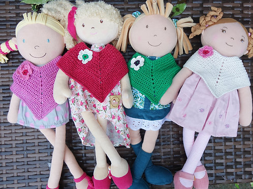 Add a Handmade Cotton Poncho to your doll order