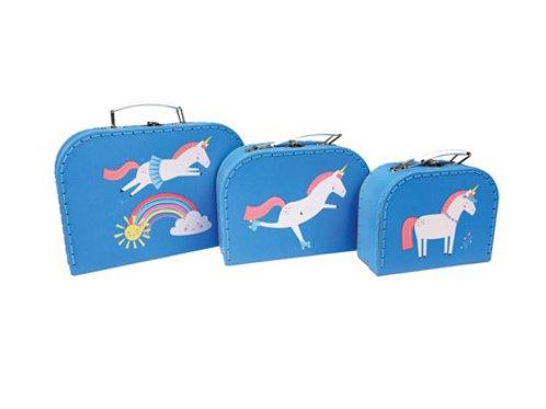 Magical Unicorn - Set of 3 Suitcases