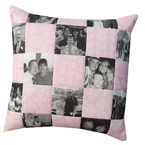 Patchwork Memory Cushion 16x16inches