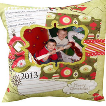 Christmas Photo Memory Cushion