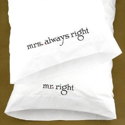 Two Cotton Pillow Cases for Wedding