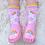 Thumbnail: Pink Unicorn Moccasin Slippers