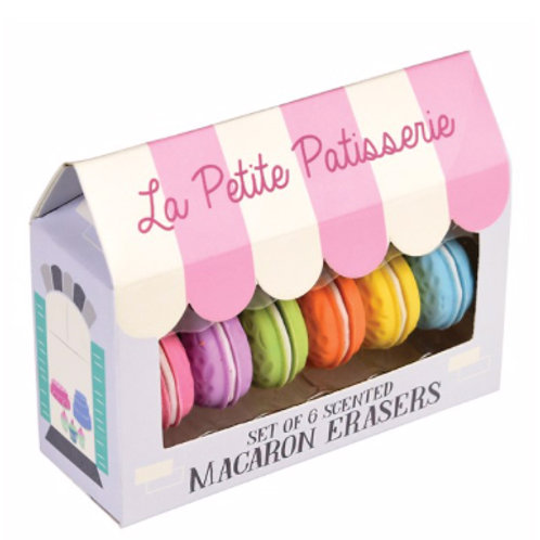 Scented Macaroon Erasers (Set of 6)