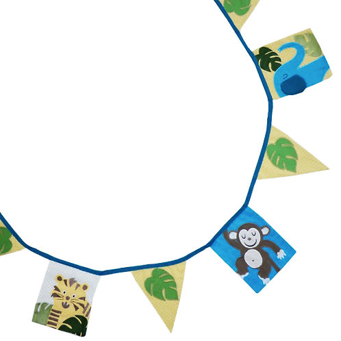 Jungle themed Cotton Bunting - 4 mtres