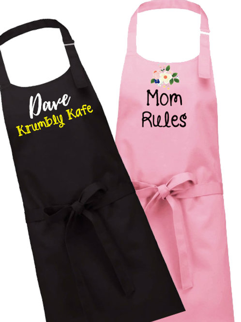 Embroidered Aprons - YOUR details