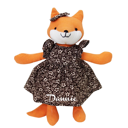 Mrs. Fox - Small Personalised Toy